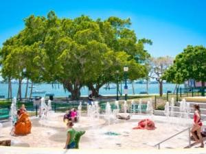 Water fountain at Bayfront Park, Sarasota, by Debi PIttman Wilkey